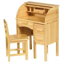 Jr. Roll Top Desk - Light Oak