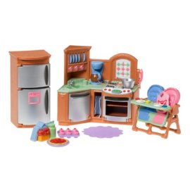 Deluxe Kitchen Room Set for the Loving Family Dollhouse