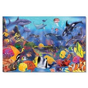 48-piece Deluxe Underwater Cardboard Floor Puzzle