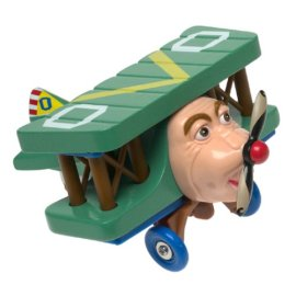Old Oscar Biplane - Wooden Character