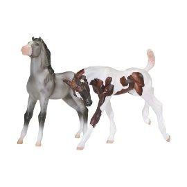 Classics Fun Foals - Grullo & Liver Chestnut Tobiano