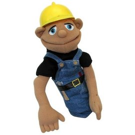 Deluxe Construction Worker Hand Puppet