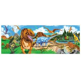 48-piece Deluxe Land of the Dinosaurs Cardboard Floor Puzzle