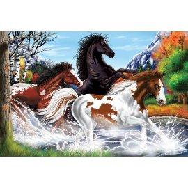 48-piece Deluxe Horses Cardboard Floor Puzzle