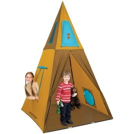 Giant Tee Pee Playhouse Tent - 8 Feet Tall! Comes with Carrying Case