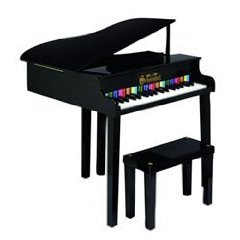 Black Concert Grand Toy Piano