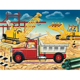 The fun doesn't stop when you assemble this puzzle! Move the crane, lift the pay loader, and spin the tires! The parts actually move! This big floor p