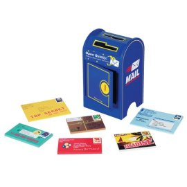 Deluxe Wooden Mailbox and Mail Set