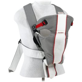 BabyBjorn Baby Air Carrier - Gray & White