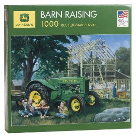 John Deere Barn Raising 1000-Piece Puzzle