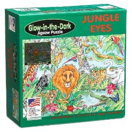 Jungle Eyes 100 piece Glow in the Dark Puzzle