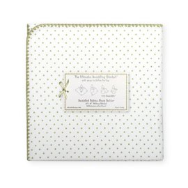 Polka Dot Ultimate Swaddling Blanket(TM) - Sage