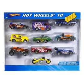 Hot Wheels 10-Car Gift Pack (colors and styles may vary)