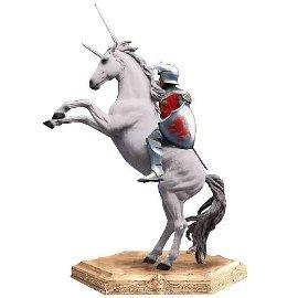 Narnia Peter on Unicorn Statue