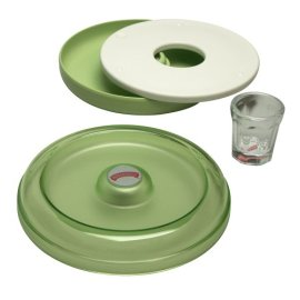 Margaritaville AD2000 Salt Rimmer and Lime Serving Set - Green