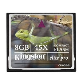 Compactflash Card, 8GB, 45X Speed