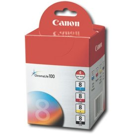 Canon CLI-8 ChromaLife100 4-Pack Color Ink Tanks for Pixma printers