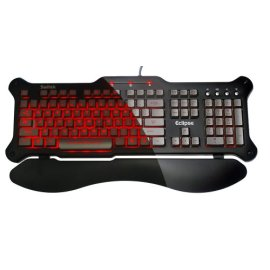 Saitek Eclipse Backlit Keyboard - Red LED ( PZ30AUR )