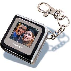 TAO 1.4 Digital Picture Keychain (Square) - black/silver