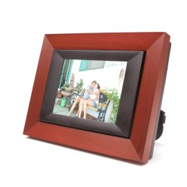 Digital Spectrum MemoryFrame MF-575 5.6 Digital Picture Frame - Dark wood w/black