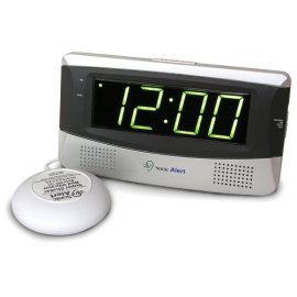 Sonic Alert SB300 Sonic Boom Loud Vibrating Alarm Clock with Large Display