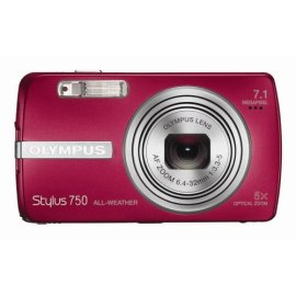 Olympus Stylus 750 7.1MP Digital Camera with Digital Image Stabilized 5x Optical Zoom and CCD Shift Stabilization (Red)