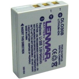 Lenmar DLO30B NoMEM Lithium-ion Rechargeable Battery (Olympus LI-30B Equivalent)