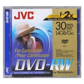 JVC VDW14DU Mini DVD-RW Camcorder Disc