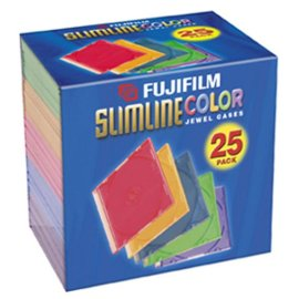 Fuji CDR80 Empty Color Jewel Cases, 25 Pack