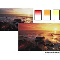 Lee Sunset Resin Filter Set (Graduated - Hard Edge - Sunset Red, Sunset Orange, Sunset Yellow)