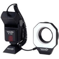 Phoenix RL-59N Automatic TTL Ringlight for Canon EOS, with 49mm, 52mm & 58mm Adapter Rings.