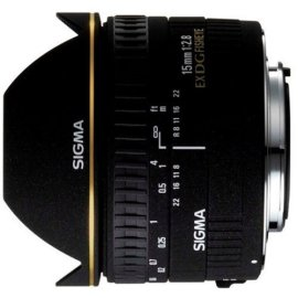 Sigma 15mm F/2.8 EX DG Diagonal Fisheye Lens for Nikon Digital SLR Cameras