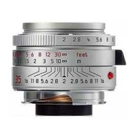 Leica 35mm f/2 SUMMICRON-M ASPHERICAL Silver Chrome Finish Wide Angle Manual Focus Lens for M System - USA