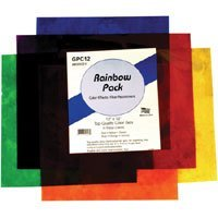 Smith Victor Color Effects Rainbow Filter Pack with Six 12 x 12 Gel Filters.