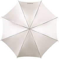 Westcott 32 White Satin Umbrella with Removable Black Cover #2012