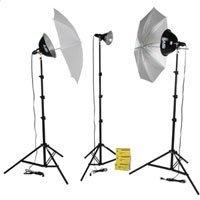 Smith Victor KT750U 3-Light 750-Watt Thrifty Photoflood Kit with Umbrellas