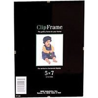 MCS Glass Clip Picture Frame for 5x 7 Photographs
