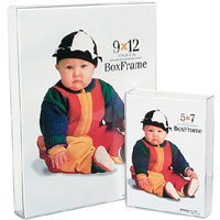 MCS Original Clear Acrylic Box Picture Frame for 5x 7 Photographs.