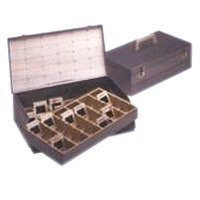 Logan Slide File, Archival Double Decker Metal Storage Box Holds 1500 2x2 Mounted Slides in Groups