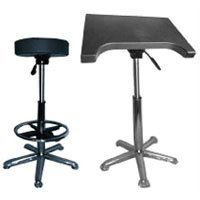 Savage Complete Posing Kit, Pneumatic Posing Stool with Foot Rest & Pneumatic Posing Table.