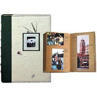 Pioneer Eco Ltd. Series Bound Photo Album with Natural Brown Paper Pages, holds 300 4 x 6 Photos, Designer Style Nature Covers.