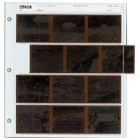 Print File Archival 120 Size Negative Pages Holds Four Strips of Three 6x7 Frames, Pack of 100