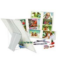 Itoya Pop Goes The Easel Standing Photo Album with Pop-up Rear Support, Holds 40 4 x 6 Prints.