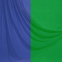 Lastolite 10'x 24' Chromakey Curtain Muslin Background, Blue / Green
