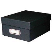 Print File Shoe Box Archival Print Storage Box, Holds Approximately 1000 4 x 6 Prints, Black Exterior.
