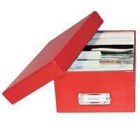 Print File Shoe Box Archival Print Storage Box, Holds Approximately 1000 4 x 6 Prints, Red Exterior.