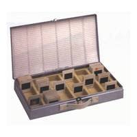 Logan Slide File, Archival Metal Storage Box Holds 750 2x2 Mounted Slides in Groups of 25 in Styrene Inserts.