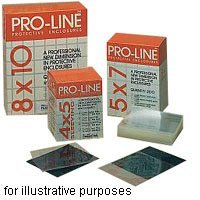 Pro-Line 8.5 x 11 Archival Polypropylene Sleeves, Holds a Single 8.5x11 Frame, Pack of 200, Clear, Sealed Flap.