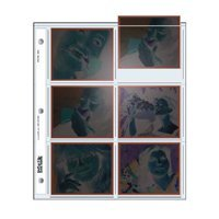 Print File Archival Polaroid 665 Size Negative Pages Holds Six Frames, Pack of 100