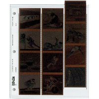 Print File Archival 120 Size Negative Pages Holds Three Strips of Four 6x6 Frames, Pack of 100